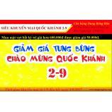 Nhân dịp lễ 2-9 Dung Bóng Bàn có chương trình giảm giá trong 3 ngày.
