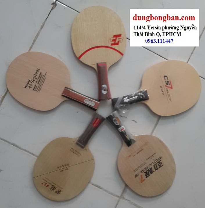 7 vợt bóng bàn thuần gỗ